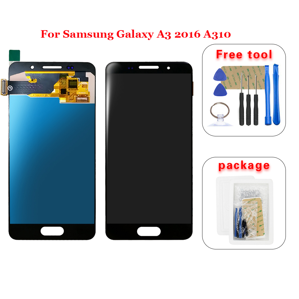 AAA For Samsung Galaxy A3 2016 A310 A310F A310H A310M A310Y LCD Display and Touch Screen Digitizer Assembly +Tools(China)
