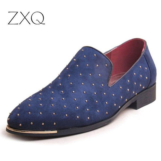 2016 Zapatos de Los Hombres Zapatos Mocasines de Cuero de Moda Masculina de Alta Calidad Pisos Oxford Zapatos Para Hombre Mocasín de Conducción Zapatos Hombre