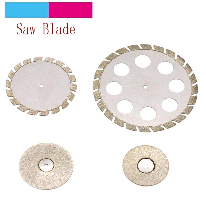 1pc 19-45mm Plating Diamond Grinding Wheel Mini Circular Saw Cutting Disc Abrasive Disc For Dremel Rotary Tools Jade Stone Blade