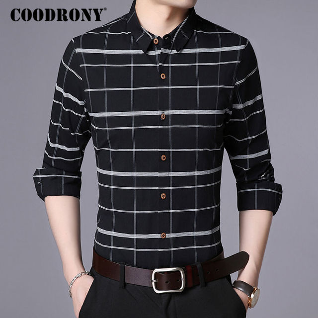 Business Casual Striped Long Sleeve Shirt 2