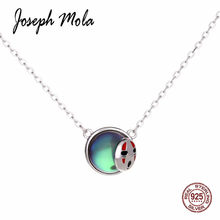 Joseph Mola 925 Sterling Silver Japan Cartoon Spirited Away Round Halo Crystal Aurora Pendant Necklaces Party Fine Jewelry Gift(China)