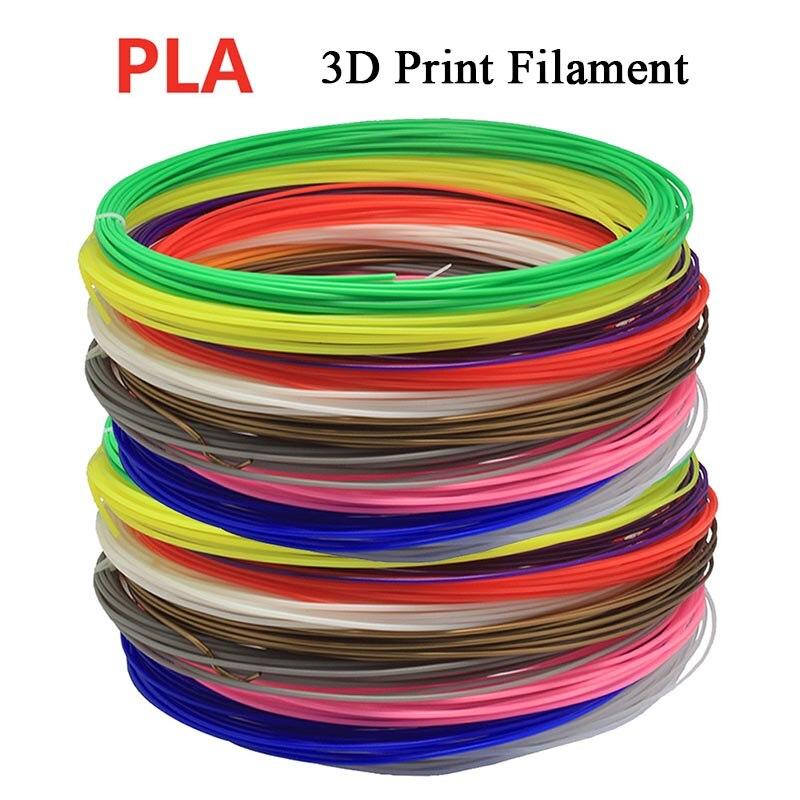 10M/pcs 36Style Color PLA 3D Print Filament 1.75mm 10M Random Color For 3D Printer or Pen
