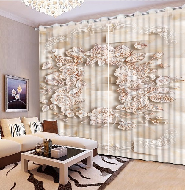 Customize Modern 3d Kitchen Window Curtains European Marble Squid 3d Photo Beautiful  Curtains Living Room