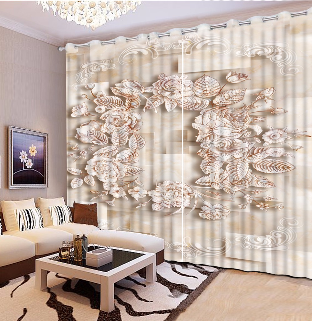 Customize Modern 3d Kitchen Window Curtains European Marble Squid 3d Photo  Beautiful Curtains Living Room(