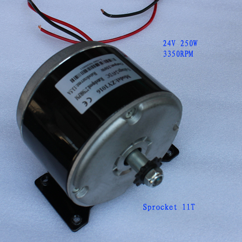 24V dc motor 1016ZY 250W 3300RPM permanent magnet high torque For DIY electric scooter Pedal generator with gear 40w 50w hand cranked generator dc small generator 12v 24v permanent magnet dc motor dual use