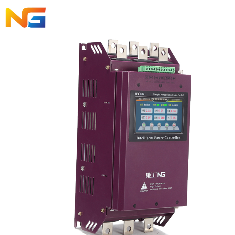 Color screen 75 kw three-phase motor soft starter crusher motor pump fan intelligent soft start control cabinet nenggong