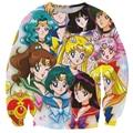 Alisister anime sailor moon 3d hoodies do pulôver da camisola das mulheres de impressão dos desenhos animados longo-sleeved clothing moleton feminino