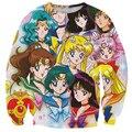 Alisister anime sailor moon mujeres sudadera 3d jerséis con capucha de impresión de dibujos animados de manga larga camisa clothing moleton feminino