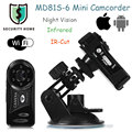 MD81S - 6 Mini P2P Wireless IP Camera WiFi Camera Night Vision IR-cut Security Record Android iOS Camcorder Surveillance Webcam