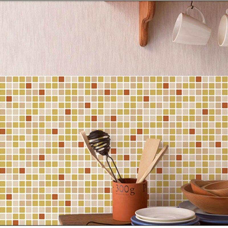 Bathroom waterproof self adhesive mosaic pattern wallpaper for Self adhesive bathroom wallpaper