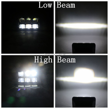 "Super light 6D 60W 5"" 4×6 inch CE DOT Approved Square Head Lamp Led Work LIGHT spot beam bar For Ford Mustang Nissan"