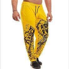 Мужские штаны для бодибилдинга, мужская спортивная одежда, свободные дышащие повседневные штаны, уличные штаны для бега, большие размеры