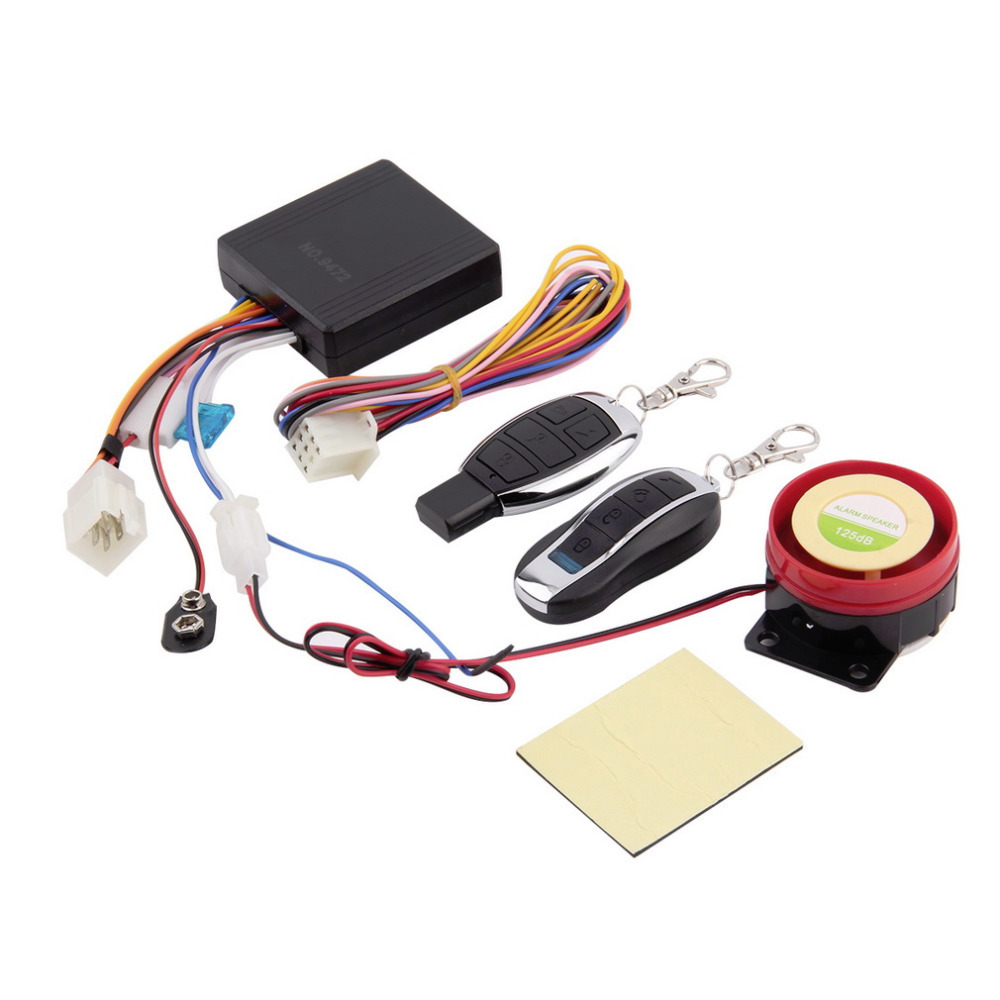 12v Universal Motorcycle Motorbike Scooter Security Alarm System Motor Lock  Safety 2 Remote Control Engine Start hot selling-in Burglar Alarm from ...