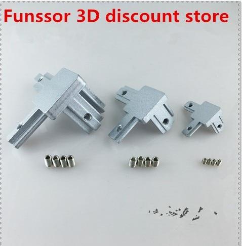 L 3-Way 90 Deg Inside Corner Connector For Aluminum T-slot Profile 4040 EU