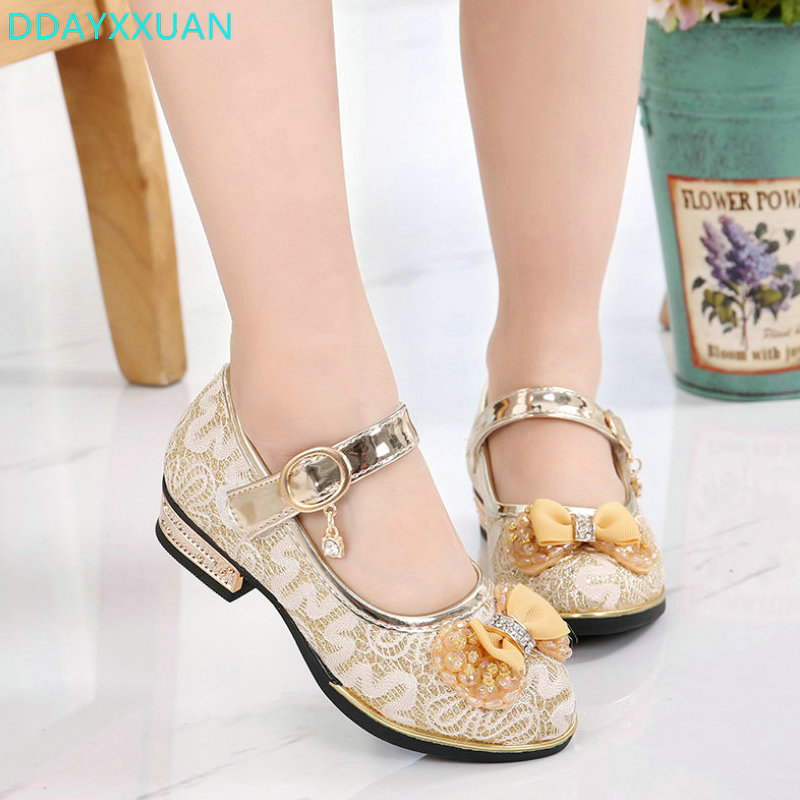 Girls Shoes Square Heels Dress Shoes