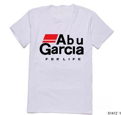 Abu garcia fishing reel logo tshirts summer novelty vogue for Fishing logo t shirts