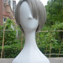 YURI on ICE Victor Nikiforov Short Silver Gray Wig Styled Role Play Halloween Cosplay