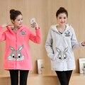 Dongkuan maternidade as mulheres grávidas camisola casaco grandes estaleiros longas seções casaco de caxemira ampla Songane