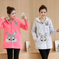 Maternity Dongkuan pregnant women sweater coat big yards long sections cashmere coat wide Songane