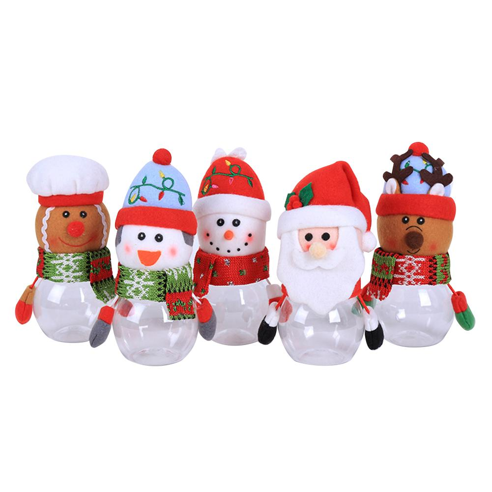 Old Man Christmas Gifts: Delicate Christmas Decorations Plastic Transparent Candy