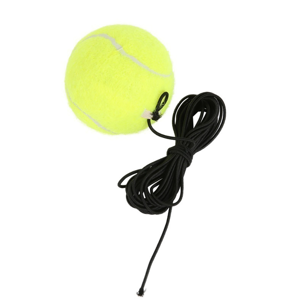 Elastic Rubber Band Tennis Ball Single Practice Training Belt Line Cord Tool 2