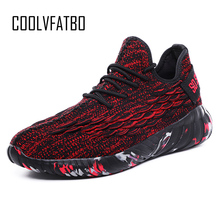 Купить с кэшбэком COOLVFATBO Breathable Men Sneakers Male Shoes Adult  High Quality Comfortable Non-slip Soft Mesh Men Shoes 2019 Summer New