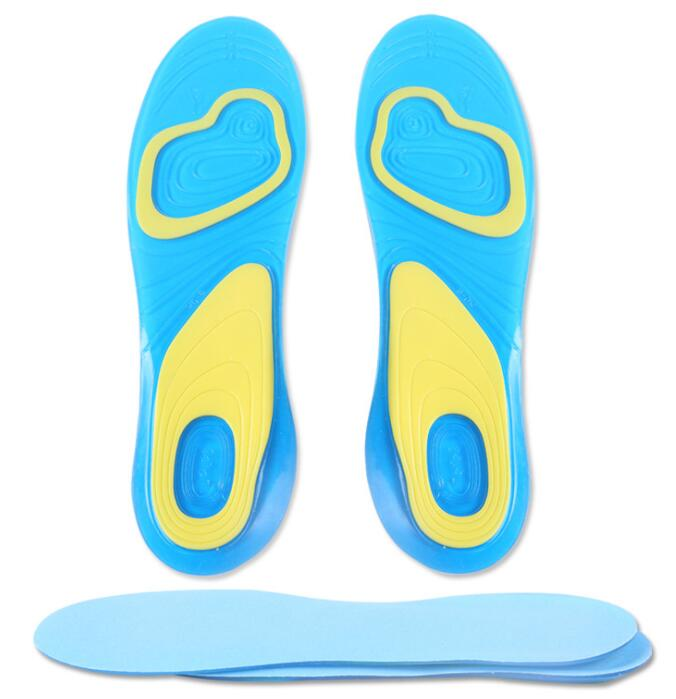 Running Sport Insoles Silicone Gel Shoes Pad Shock Absorption Pads Arch Orthopedic Insole Foot Care for Plantar Fasciitis Heel image