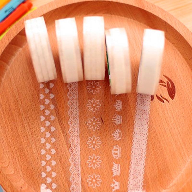 10 Pcs/lot White Lace Washi Adhesive Masking Tape DIY Album Decorative Tape Kawaii Stationery Scrapbooking Stickers