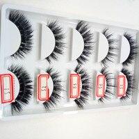 5 Pairs 3D Handmade Natural Soft Mink False Eyelashes Quality Thick Fake Lashes Extension Makeup Tools