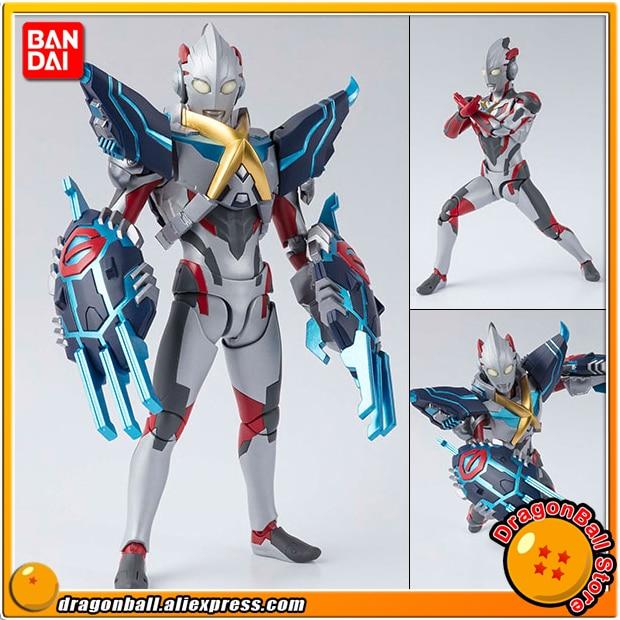 "Japan Anime ""Ultraman X"" Original BANDAI Tamashii Nations S.H. Figuarts / SHF Action Figure - Ultraman X & Gomora Armor Set"
