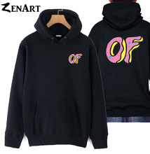 684b8babcf0d coloful Donut front small logo back large logo Awesome Odd Future Sprinkle  Donut Tyler the Creator man cotton hoodies