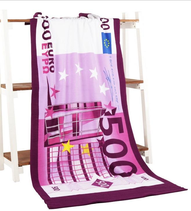 Frauen 150*70 cm 500 EURO Strand Handtuch für Erwachsene Mikrofaser Absorbent Bad Handtücher Trocknen Waschlappen Serviette De Plage toalla Playa
