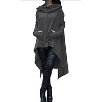 Casual Women   Hoodies     Sweatshirts   Plus Size Cotton Casual Pullover Female Hooded Long Sleeve Loose Oversized Plus Size Solid **