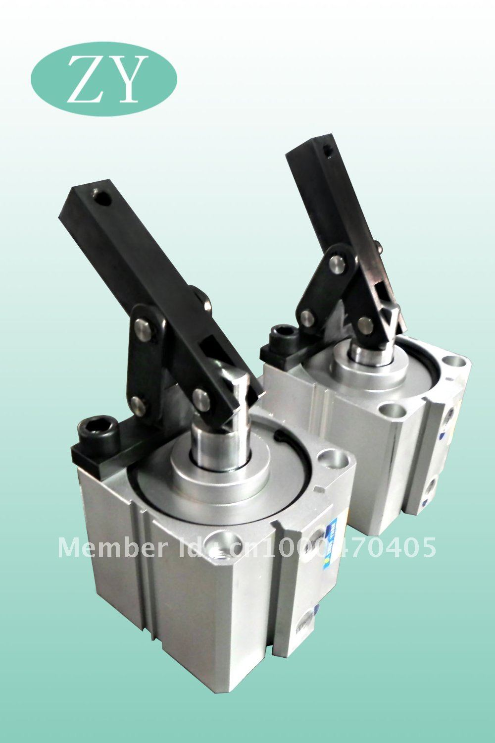 Alc line connected pneumatic lever clamp cylinder