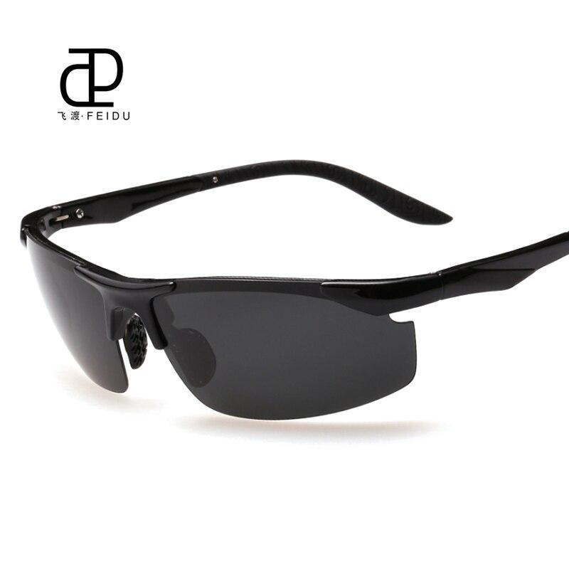 FEIDU Marque Nouvelle TR90 Cadres lunettes de Soleil Polarisées Hommes de  Pilote Jour Et Nuit Miroir Lunettes de Soleil Lunettes Avec la Boîte a28ae6de1ef2