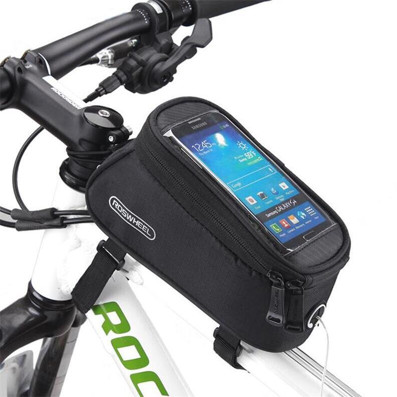 """ROSWHEEL 4.2 """"4.8"""" 5.5 """"Водонепроникний Відкритий Велоспорт Гірський Велосипед Руль сумка Кадр Передня Трубка Сенсорний Екран Телефон Сумка"""