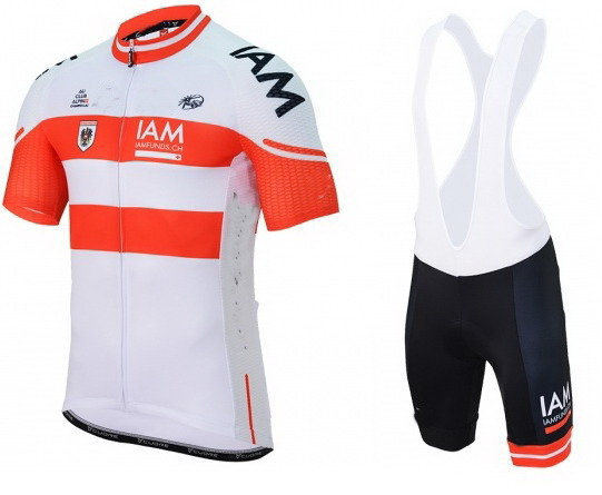2016 IAM PRO TEAM Austria RED Men s Cycling Jersey Short Sleeve Bicycle Clothing With Bib