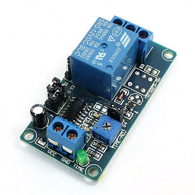 DC 12V SRD-12VDC-SL-C Time Delay Circuit Module Board Blue for Arduino