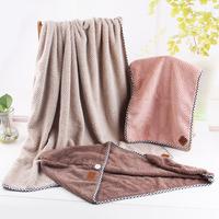 3pcs Set Coral Velvet Bath Tower Sets Soft Magic Absorbent Dry Spa Hair Towel Beach Towel