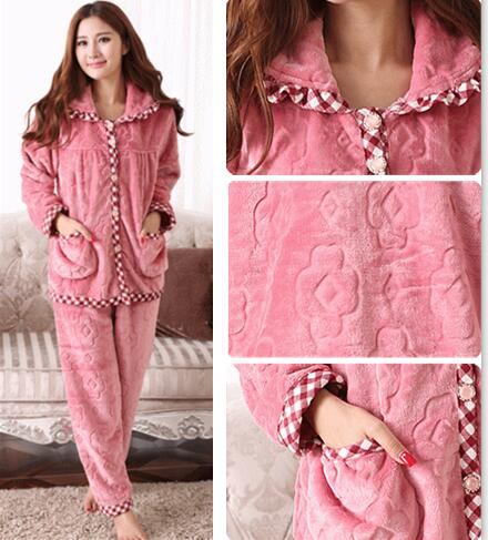 9b5017040 Sweet Memory Women Winter soft warm flannel pajamas set Clearance Sale  Promotional price S001L