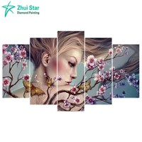 Zhui Star 5D DIY Diamond Embroidery Beauty Butterfly Diamond Painting Cross Stitch Full Drill Rhinestone Mosaic