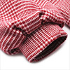 women's clothes red plaid lantern sleeves over the knee long wool coat Autumn and winter coat ladies down parka down jacket 4