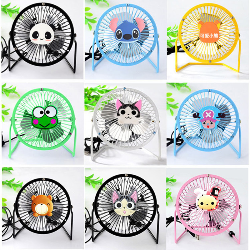 9 Models for choose USB Ventilator 360 Rotate Metal Mini Fan Portable Cooler Cooling Desktop Power PC Laptop Desk Fan 4pin mgt8012yr w20 graphics card fan vga cooler for xfx gts250 gs 250x ydf5 gts260 video card cooling