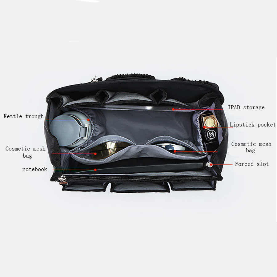 Backpack Insert Bags Inner Storage Bag Large Capacity Travel Organizer For Diaper Shoulders Sundries Finishing Handbag