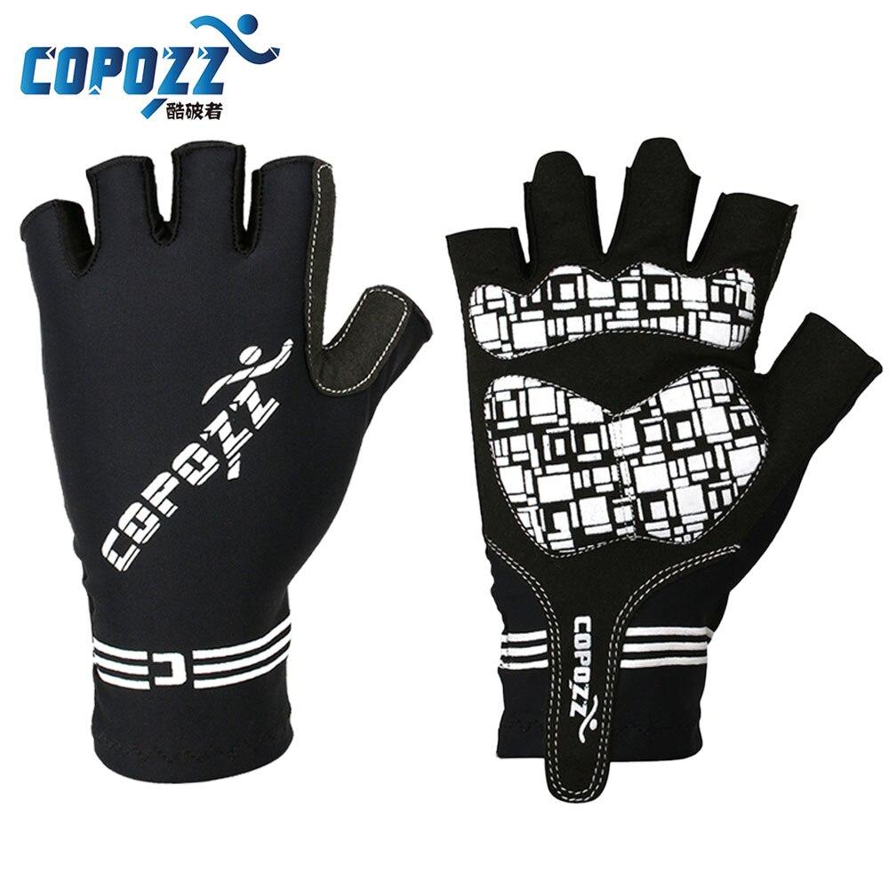 Prix pour Copozz de gel de silicone demi doigt de bicyclette de vélo gants pour vtt équitation homme femmes montagne/vtt sport