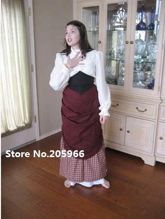 Free Shipping Fabulous Victorian Style Day gown of Memorial Film Costume with Blouse for BOOK COVER