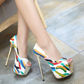 high heels shoes woman pumps shoes sexy extreme high heels wedding shoes patent leather heeled party shoes peep toe pumps D827