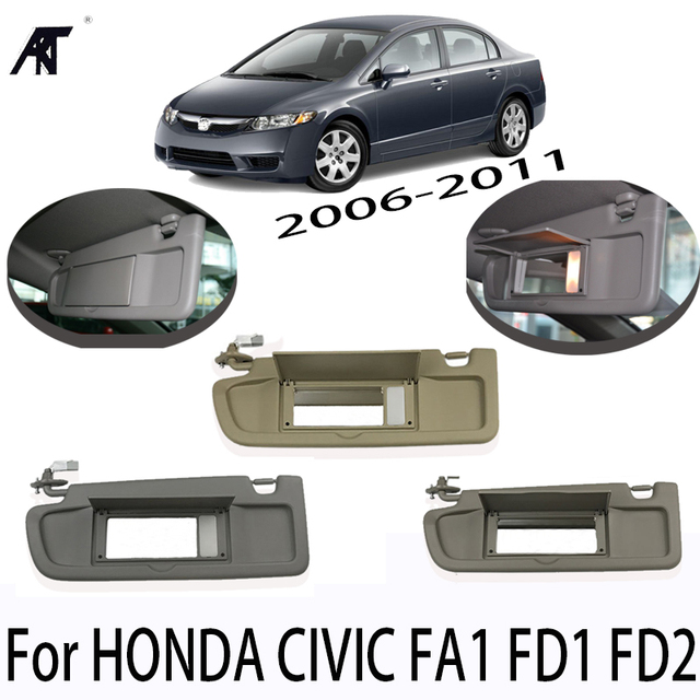 Car Left Driver Side Sunvisor Sunshade Sun Shield Antidazzle Visor For HONDA  CIVIC FD1 FD2 FA1 5c8a542b476