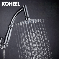New Arrival 360 Universal Chrome Finished Wall Mounted Brass Shower Arm 8 Shower Head 2 Conversion