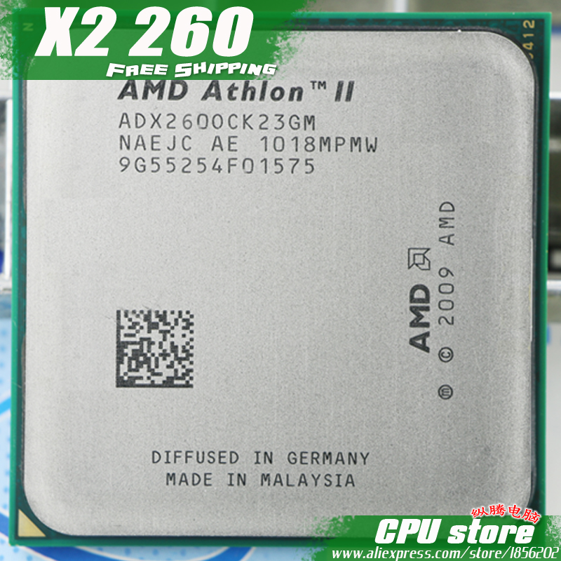 Amd Athlon Ii X2 260 Cpu Processor 3 2ghz 2m 2000ghz Socket Am3 Am2 Free Shipping 938 Pin There Are Sell X2 265 Cpu Cpu Cabinet Cpu Quadx2 Controller Aliexpress